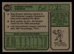 1974 Topps #482  Bob Didier  Back Thumbnail
