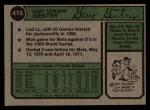 1974 Topps #415  Gary Gentry  Back Thumbnail