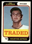 1974 Topps Traded #186 T Fred Scherman  Front Thumbnail