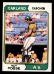 1974 Topps #420  Ray Fosse  Front Thumbnail