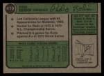 1974 Topps #410  Pedro Borbon  Back Thumbnail