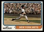 1974 Topps #153  Jon Matlack  Front Thumbnail