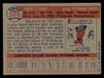 1957 Topps #368  Bob Purkey  Back Thumbnail