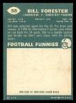 1960 Topps #58  Bill Forester  Back Thumbnail