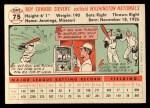 1956 Topps #75  Roy Sievers  Back Thumbnail