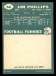 1960 Topps #66  Jim Phillips  Back Thumbnail