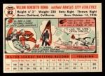 1956 Topps #82  Bill Renna  Back Thumbnail
