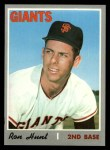 1970 Topps #276  Ron Hunt  Front Thumbnail