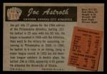 1955 Bowman #119  Joe Astroth  Back Thumbnail
