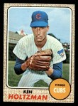 1968 Topps #60  Ken Holtzman  Front Thumbnail