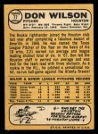 1968 Topps #77  Don Wilson  Back Thumbnail