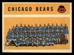 1960 Topps #21   Bears Team Checklist Front Thumbnail