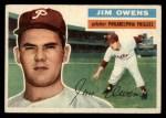 1956 Topps #114  Jim Owens  Front Thumbnail