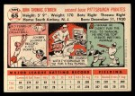 1956 Topps #65  John O'Brien  Back Thumbnail