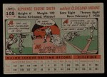 1956 Topps #105 GRY Al Smith  Back Thumbnail