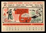 1956 Topps #37  Alex Grammas  Back Thumbnail