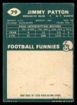 1960 Topps #79  Jim Patton  Back Thumbnail