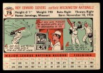 1956 Topps #75  Roy Sievers  Back Thumbnail