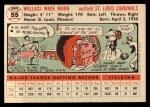 1956 Topps #55  Wally Moon  Back Thumbnail