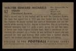 1952 Bowman Small #62  Walt Michaels  Back Thumbnail