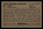1952 Bowman Small #97  John Wozniak  Back Thumbnail