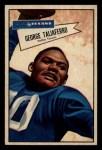1952 Bowman Small #89  George Taliaferro  Front Thumbnail