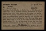 1952 Bowman Small #27  Robert Miller  Back Thumbnail