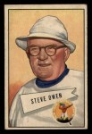 1952 Bowman Small #4  Steve Owen  Front Thumbnail