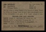 1952 Bowman Small #31  Jim Dooley  Back Thumbnail