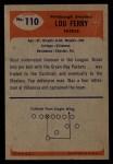 1955 Bowman #110  Lou Ferry  Back Thumbnail