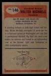 1955 Bowman #146  Walt Michaels  Back Thumbnail