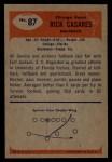 1955 Bowman #87  Rick Casares  Back Thumbnail