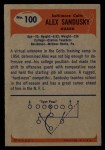 1955 Bowman #100  Alex Sandusky  Back Thumbnail