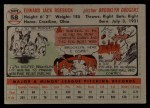 1956 Topps #58  Ed Roebuck  Back Thumbnail
