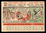 1956 Topps #32  Frank House  Back Thumbnail