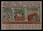 1956 Topps #246  Tom Gorman  Back Thumbnail