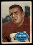 1960 Topps #128  Jim Schrader  Front Thumbnail