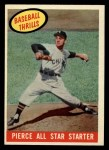 1959 Topps #466   -  Bill Pierce All Star Starter Front Thumbnail