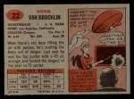 1957 Topps #22  Norm Van Brocklin  Back Thumbnail