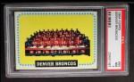 1964 Topps #65  Denver Broncos Team  Front Thumbnail