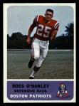 1962 Fleer #11  Ross O'Hanley  Front Thumbnail