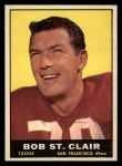 1961 Topps #63  Bob St. Clair  Front Thumbnail