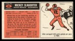 1965 Topps #63  Mickey Slaughter  Back Thumbnail
