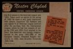 1955 Bowman #283  Nestor Chylak  Back Thumbnail