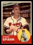 1963 Topps #320  Warren Spahn  Front Thumbnail