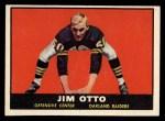 1961 Topps #182  Jim Otto  Front Thumbnail