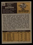 1971 Topps #207  Willie Brown  Back Thumbnail