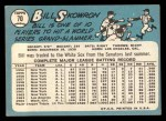 1965 Topps #70  Bill Skowron  Back Thumbnail