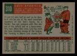 1959 Topps #310  Luis Aparicio  Back Thumbnail