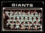 1971 Topps #563   Giants Team Front Thumbnail